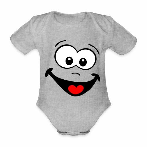 Gesicht lachen - Baby Bio-Kurzarm-Body