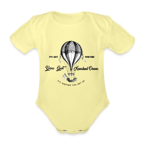 balon - Ekologiczne body niemowlęce z krótkim rękawem