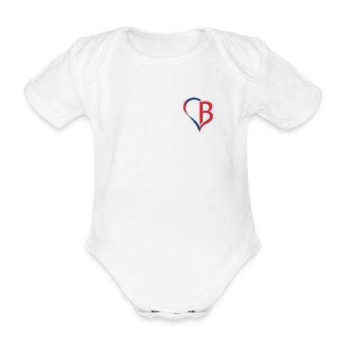 Logo Rot/Blau - Baby Bio-Kurzarm-Body