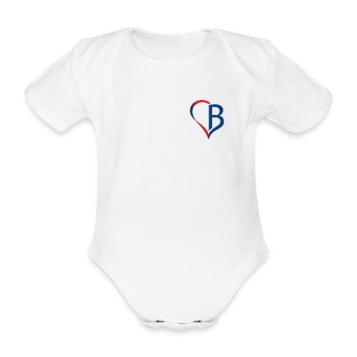 Logo Blau/Rot - Baby Bio-Kurzarm-Body