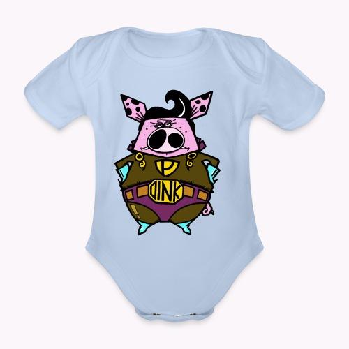 super oink col - Body ecologico per neonato a manica corta