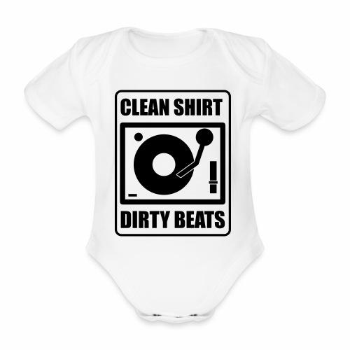 Clean Shirt Dirty Beats - Baby bio-rompertje met korte mouwen