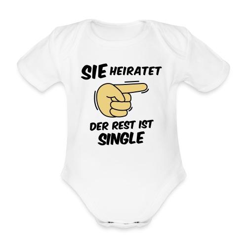 Sie heiratet, der Rest ist Single - JGA T-Shirt - Baby Bio-Kurzarm-Body