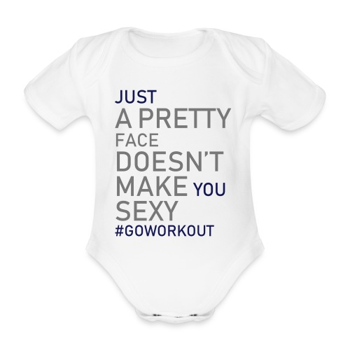 Just a pretty face... - Organic Short-sleeved Baby Bodysuit