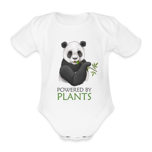 Panda 2 Plantbased - Ekologisk kortärmad babybody