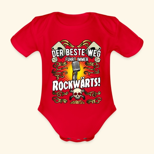Rock Music Shirt ROCKWÄRTS - Baby Bio-Kurzarm-Body