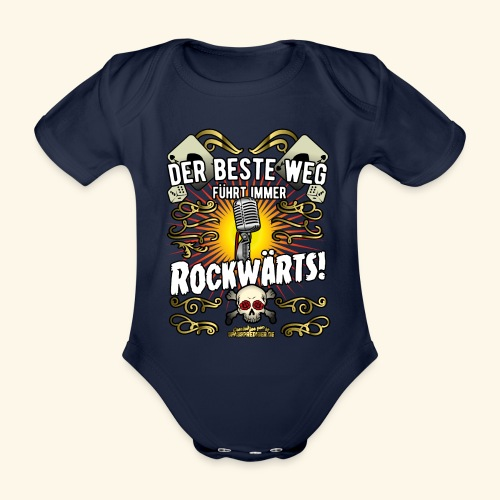 Rock Music Shirt ROCKWÄRTS - Baby Bio-Kurzarm-Body