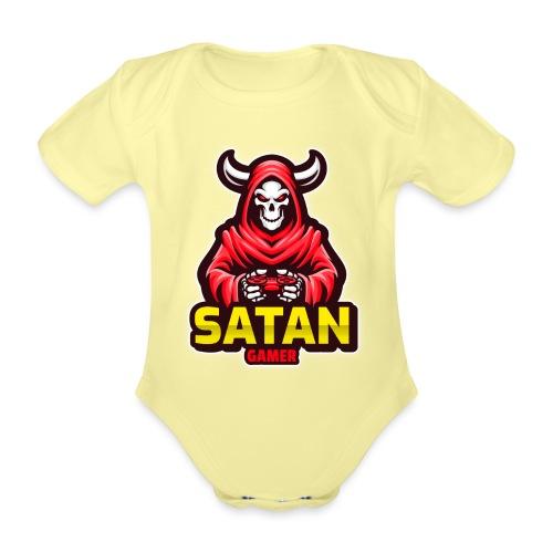 satan gamer - Body Bébé bio manches courtes