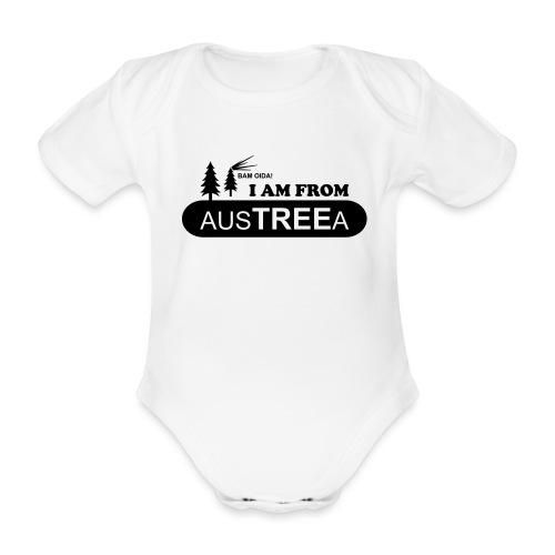 BAM OIDA! I am from AusTREEa (Österreich) - Baby Bio-Kurzarm-Body