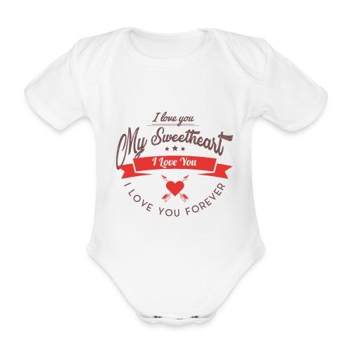my sweetheart - Ekologiczne body niemowlęce z krótkim rękawem
