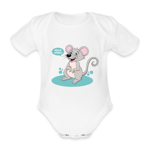 Kleine Maus als Geschenk zur Geburt - Baby Bio-Kurzarm-Body