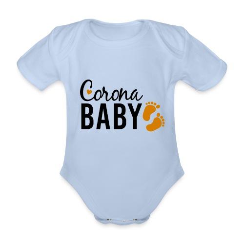 Corona Baby neutral Babybauch Schwangerschaft - Baby Bio-Kurzarm-Body
