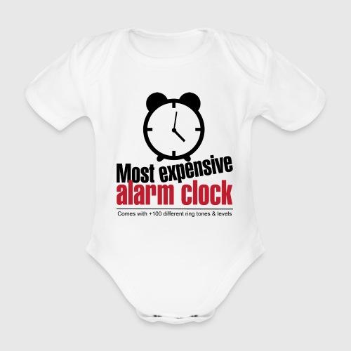 alarmclock png - Kortærmet babybody, økologisk bomuld