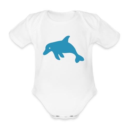 Delphin - Baby Bio-Kurzarm-Body