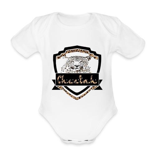 Cheetah Shield - Organic Short-sleeved Baby Bodysuit