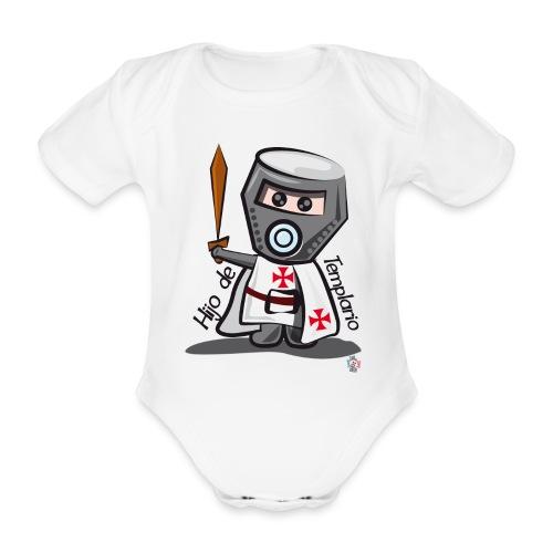 Hijo de templario (Casco) - Body orgánico de maga corta para bebé