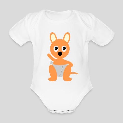 Das hüpfende Känguru - Baby Bio-Kurzarm-Body
