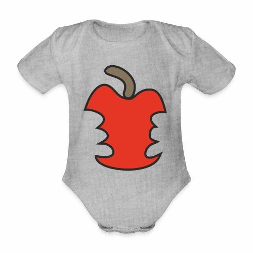 Apfel angebissen - Baby Bio-Kurzarm-Body