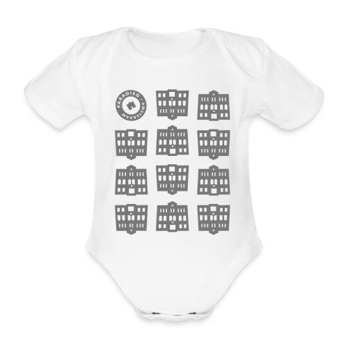 printvoorrompertjegrijs - Baby bio-rompertje met korte mouwen