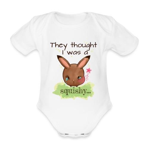 Not squishy - Organic Short-sleeved Baby Bodysuit