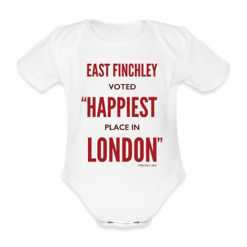 East Finchley Happiest Place in London - Organic Short-sleeved Baby Bodysuit
