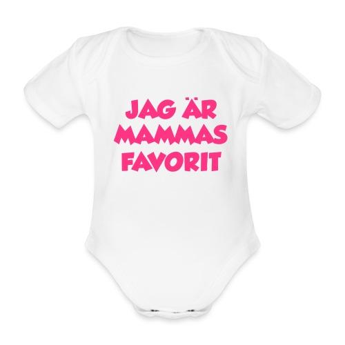 Jag är mammas favorit - Ekologisk kortärmad babybody