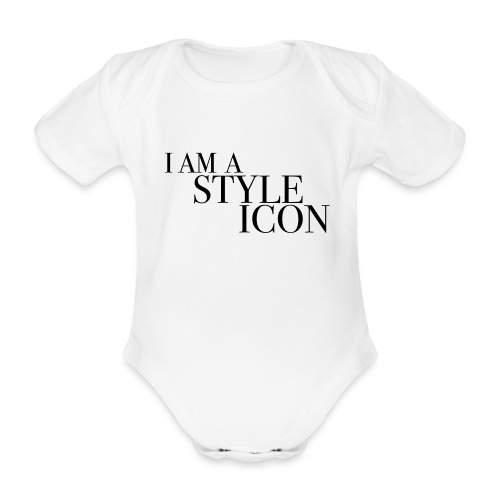 ICON STYLES - Organic Short-sleeved Baby Bodysuit