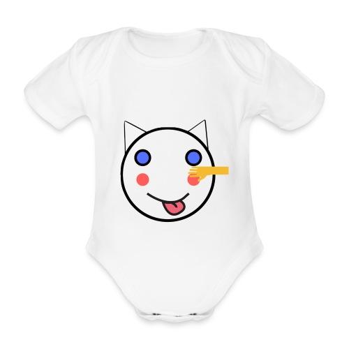 Alf Cat With Friend | Alf Da Cat - Organic Short-sleeved Baby Bodysuit