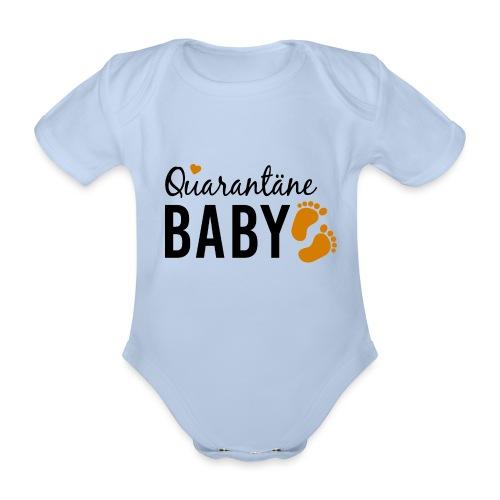 Quarantäne Baby Corona Babybauch Schwangerschaft - Baby Bio-Kurzarm-Body