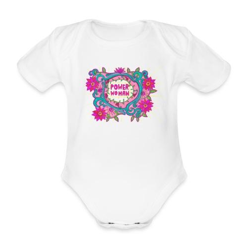 POWER WOMAN - Ekologisk kortärmad babybody