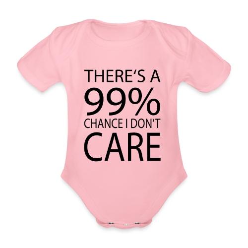 Ist mir egal lustiges Design Sarkasmus - Baby Bio-Kurzarm-Body