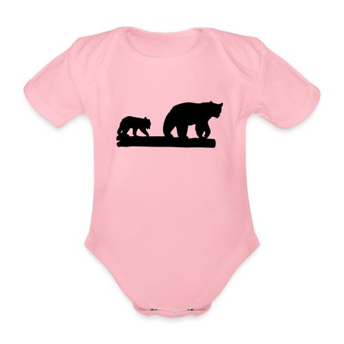 Bären Bär Grizzly Wildnis Natur Raubtier - Baby Bio-Kurzarm-Body
