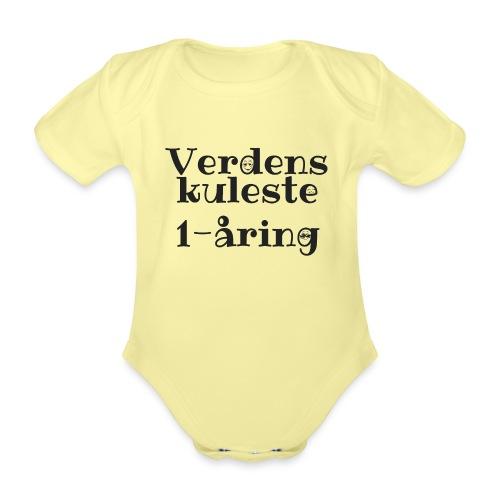 Verdens kuleste 1-åring - Økologisk kortermet baby-body