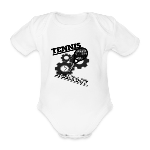 TENNIS WORKOUT - Organic Short-sleeved Baby Bodysuit