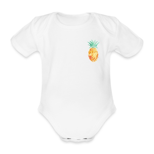 pinety logo print - Kortærmet babybody, økologisk bomuld