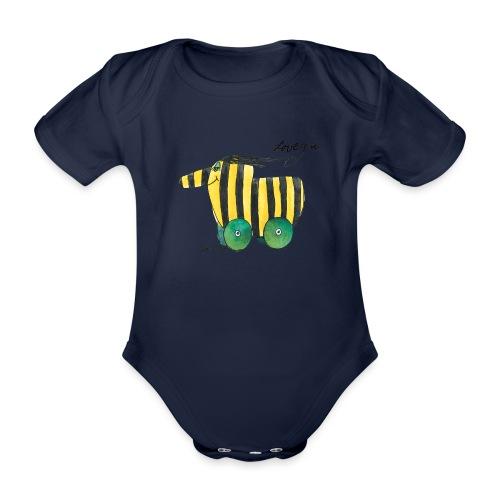Janosch Tigerente Love you - Baby Bio-Kurzarm-Body