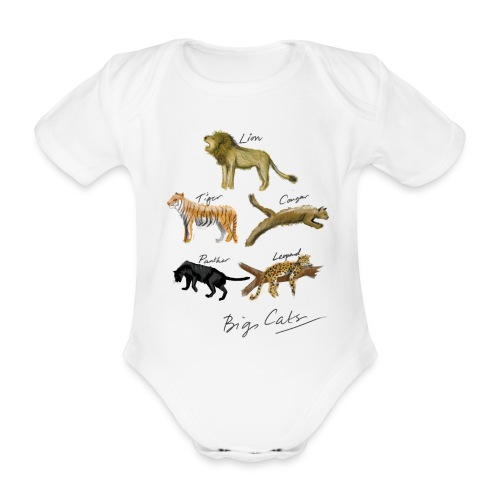 Cats - Organic Short-sleeved Baby Bodysuit