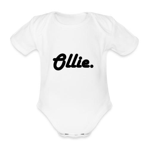 Ollie Harlow Solid - Baby bio-rompertje met korte mouwen