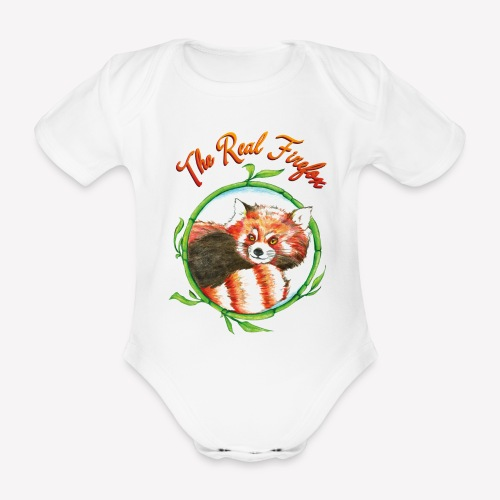 The Real Firefox - Baby Bio-Kurzarm-Body