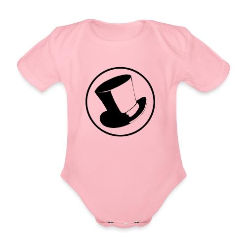 GLASS HAT - Body orgánico de maga corta para bebé