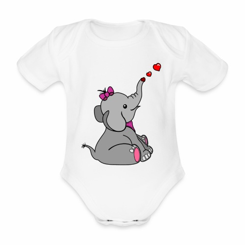 Elefant - Baby Bio-Kurzarm-Body