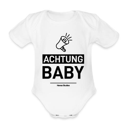 Hansa Studios | Achtung Baby (White) - Baby Bio-Kurzarm-Body
