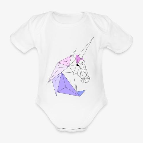 Einhorn geometrie unicorn - Baby Bio-Kurzarm-Body