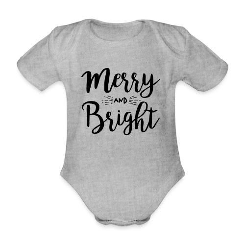 Merry and Bright - Baby Bio-Kurzarm-Body