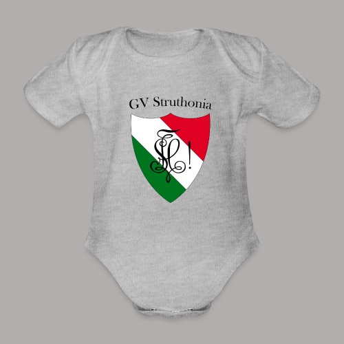 Wappen Struthonia (vorne) - Baby Bio-Kurzarm-Body