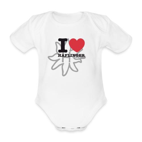 I love Haflinger - Baby Bio-Kurzarm-Body