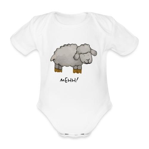 mehh! - Baby bio-rompertje met korte mouwen