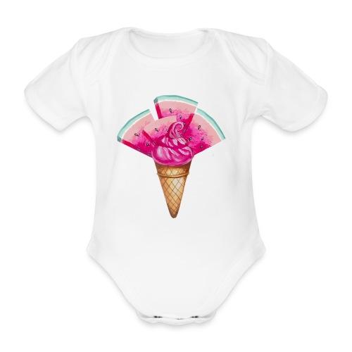 Eis Melone - Baby Bio-Kurzarm-Body