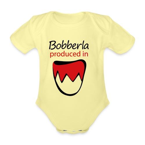 1 bobberla weiss - Baby Bio-Kurzarm-Body