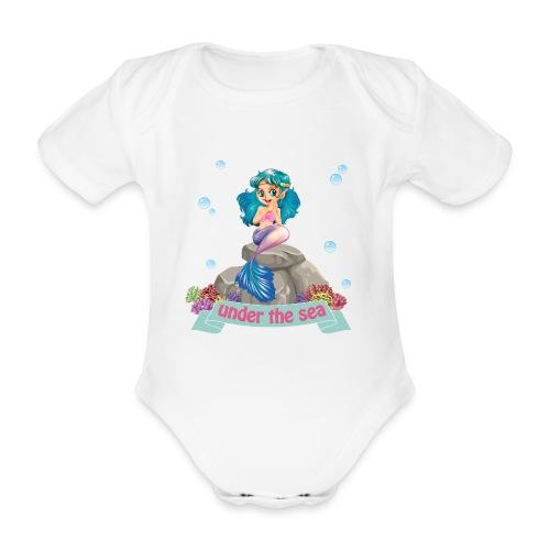 SIRENA SENTADA - Body orgánico de maga corta para bebé